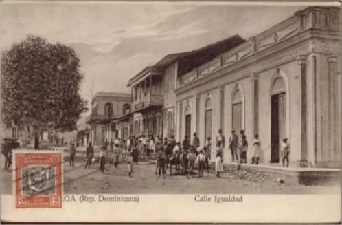 Calle de la ciudad de La Vega,  Republica Dominicana 1910 Antalontan