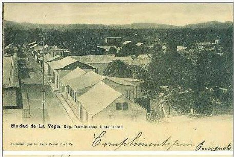 Ciudad de La Vega, Republica Dominicana. 1902 Fuente : La Vega Postal Card Co. 1900s PC