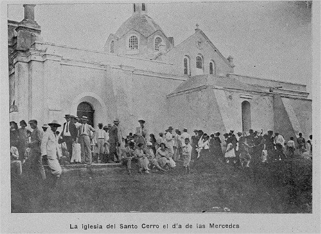Iglesia del Santo Cerro , Dia de las Mercedes. La Vega, R.D 1925. AGN / B y N