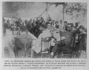 Invitados en la Boda de Rafael L. Trujillo con Bienvenida Inocencia Ricardo, Montecristi.R.D Abril del 1927. AGN / B y N