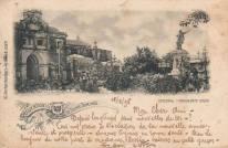 LAS 50 IMAGENES DEL 2013 IMAGENES DE NUESTRA HISTORIA Postal del Parque Colón y Catedral de Santo Domingo. Santo Domingo. R.D 1895 fuente AGN.