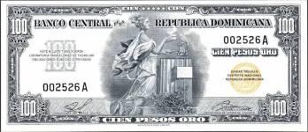 LAS 50 IMAGENES DEL 2013 IMAGENES DE NUESTRA HISTORIA Papeleta de Cien Pesos Oro. Republica Dominicana Decada del 50 Fuente : Externa