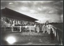 Hipodromo Perla Antillana Ciudad Trujillo , R.D Obra de los Arquitectos Guilermo Gonzalez y jose Antonio Caro Alvarez Construido en la Decada del 40