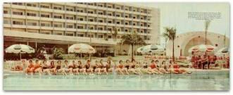 Las Candidatas al concurso Miss República Dominicana , posan en la Piscina del Hotel El Embajador. Ciudad Trujillo , República Dominicana. 1956 Fuente : AGN