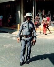Policia de Transito. Santo Domingo, Republica Dominicana. Decada del 70. Fuente : Externa