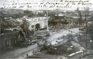 Vista Panoramica del estado en que quedó La Puerta del Conde y las areas Aledañas, Luego del paso del Ciclón San Zenón por el pais. Santo Domingo , Republica Dominicana. 3 de Septiembre del 1930 Fuente : AGN