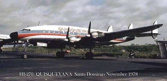 Aerovías Quisqueyana , aerolínea de la República Dominicana durante los años 1960 y 1980 Fuente : Externa