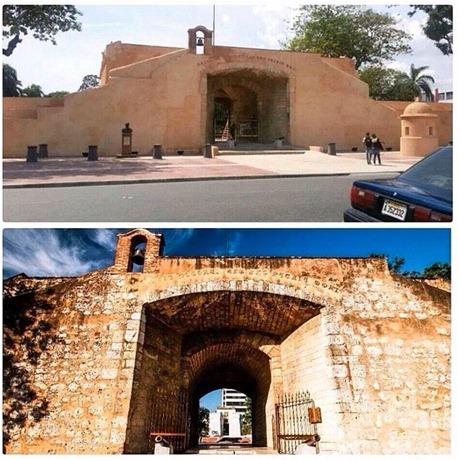 Foto publicada en Instagram por @kennygrullon. Muestra el antes y el después de la fachada del monumento.