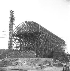 MERCADO MODELO EN CONSTRUCCION. CIUDAD TRUJILLO R.D /1941